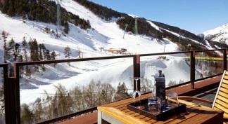 Hotel Hermitage Andorra detalle de la terraza de la habitación con vistas a las pistas de Grandvalira