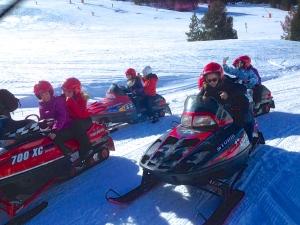 Famtrip Andorra Convention Bureau  actividad motos de nieve en Vallnord