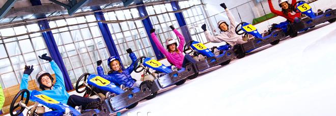 Palau de Gel de Andorra actividad de KARTING sobre hielo