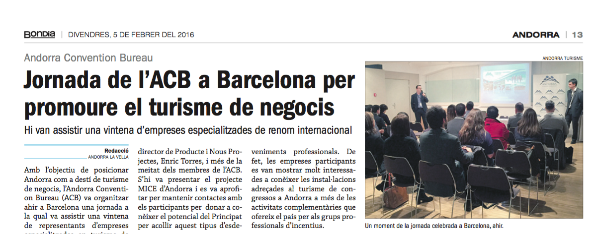 prensa Andorra work-shop