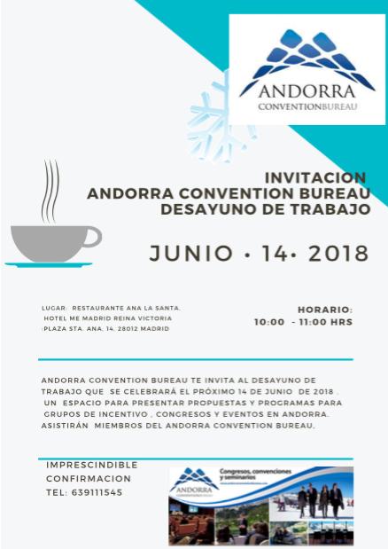 Invitación desayuno de trabajo Madrid